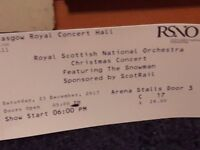 RSNO - THE SNOWMAN CHRISTMAS CONCERT 2 X TICKETS