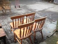 4 farmhouse chairs