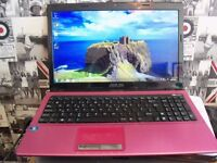 asus laptop in pink