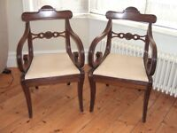 Pair of Fine Regency Mahogany Elbow Chairs. C1820