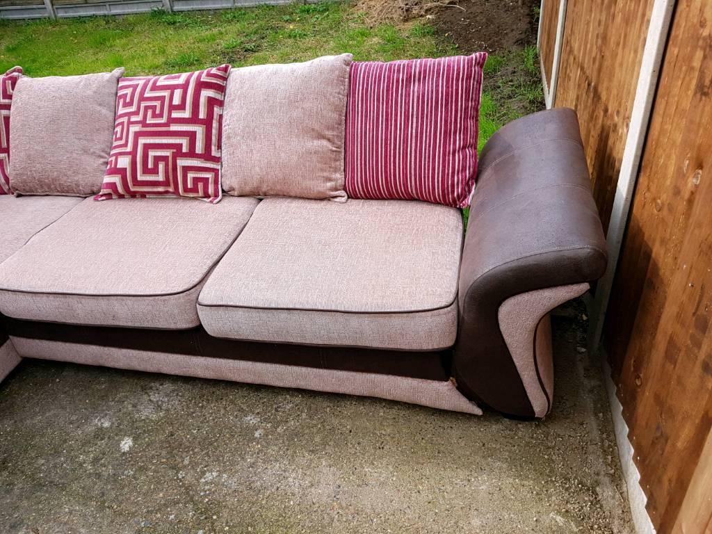 Left hand corner sofa.