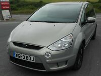 FORD S-MAX 2.0 TDCi ZETEC 7 SEATER, 2009 '59 REG, FSH - 8 STAMPS, TURBO DIESEL, 6 SPEED, CLIMATE A/C
