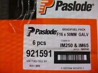 Paslode Nails . F16 Straight Brad 38 mm + 50mm
