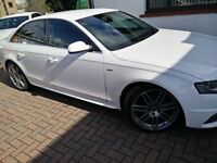 Audi A4 2.0 TDI (143 PS) Diesel S-line Special Edition Ibis White - Black Milano Leather