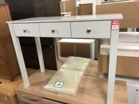3 drwr dressing table - white