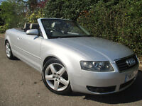 2004 AUDI A4 CABRIOLET SPORT 2.4 *2 OWNER* *FULL LEATHER* *NEW MOT* CONVERTIBLE FSH