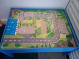 Kids car play table