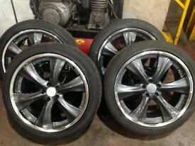 22 inc Rangrover tyres and wheels also will fit x5 bmw