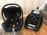 Maxi-cosi car seat and isofix