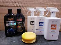 Car cleaning kit - Meguiars Ultimate Polish, Turtle Wax, Aqua Wax MRP £80