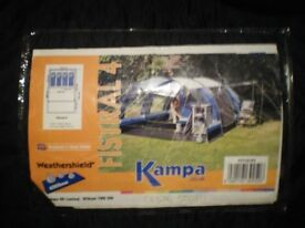 Kampa Fistral 4,four person tent, c/w inner compartment,footprint groundsheet,complete, little used.
