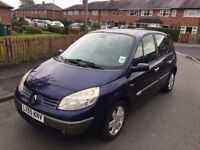 RENAULT SCENIC 1.6 VVT DYNAMIQUE, PETROL , FSH, 12 MONTHS MOT, NEW CLUTCH FITTED !!!