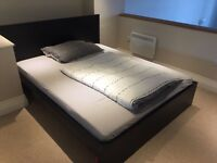 King size bed with new mattress