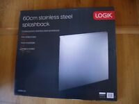 Logic Splashback Stainless Steel 65cm x 60cm.