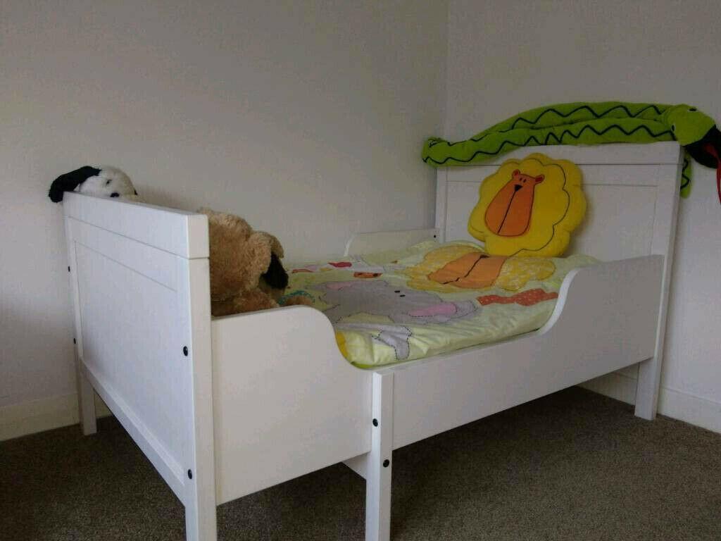 Ikea Sundvik white extendable single bed, junior bed ...