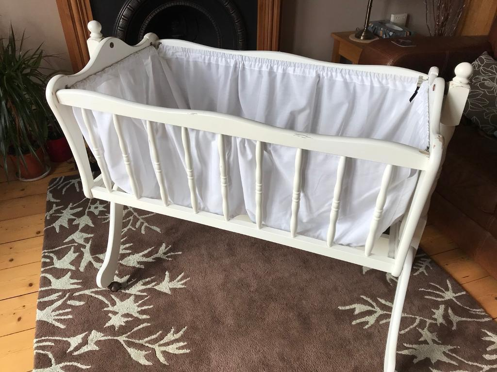 Baby Rocking Wooden Crib