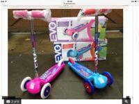Evo three wheel scooter age 3+ Brand new boxed £10