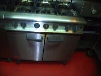 Six Ring Commercial Oven