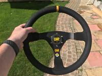 OMP Rally deep dish wheel and horn push