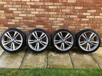 BMW 19 INCH 442 M STYLE ALLOYS / ALLOY WHEELS - NEARLY NEW TYRES - SUIT F30 / E90 3 OR 4 SERIES