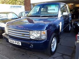 (NO OFFERS) BARGAIN 2004 RANGE ROVER TD6 AUTO HSE MOT'D SERVICE HISTORY 2 FORMER OWNERS