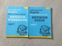 GCSE English revision books.