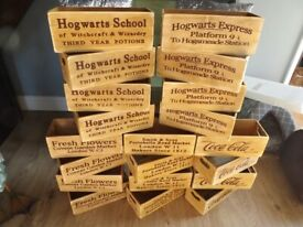 Wooden storage boxes 8 different designs i do post out payment through paypal