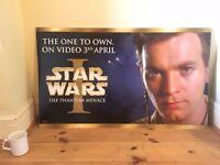 Collectible Official Star War Episode 1 Movie Poster - Obi Wan Kenobi
