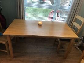 Used dining room table good condition some small marks.