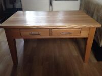 Solid Oak Coffee Table with 4 drawers in very smart clean condition.