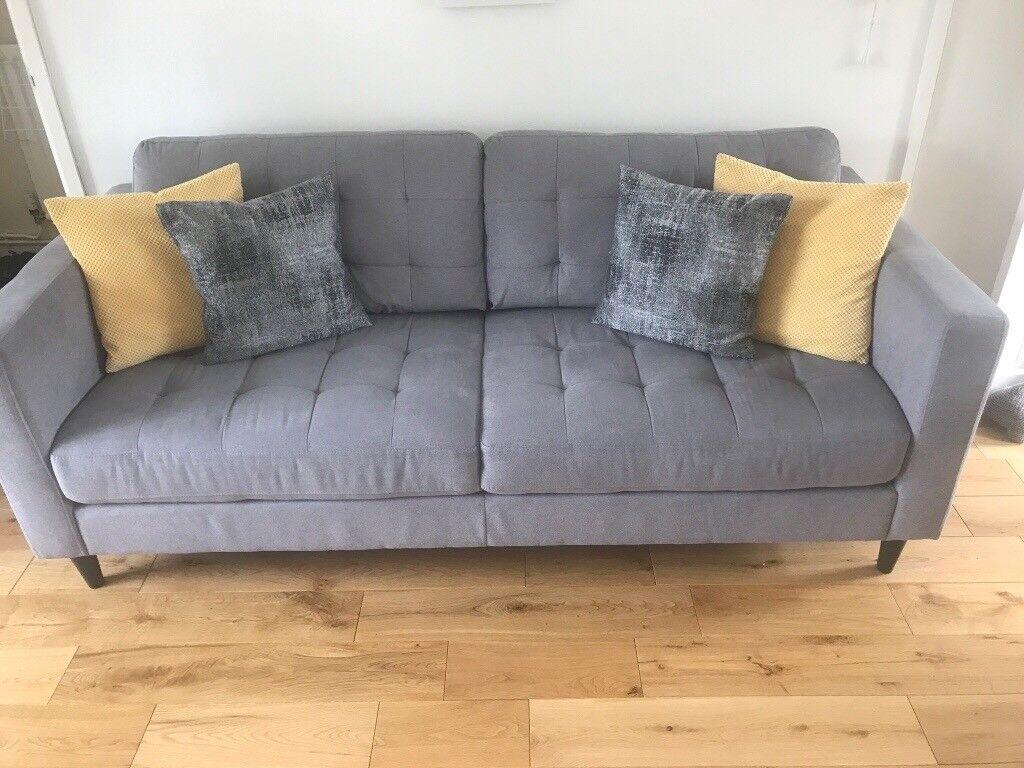 GREY 3 & 2 Seater Sofa