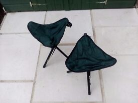 Folding tripod camping/ fishing stools £8 for the pair