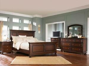 6Pc Ashley furniture bedroom set millenium Porter NEW IN BOX   6Pc Ashley furniture bedroom set millenium Top quality NE
