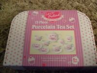 brand new lets pretend porcelain 13 piece tea set £6 no offers
