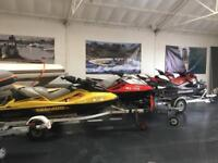 Various pre owned Jet skis in stock