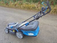 hardly used large mower 1800 watt suitable for larger lawns,5 settings cost £139 accept £75