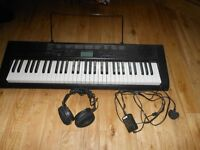 Casio Electric Keyboard - CTK-1150 with head phones