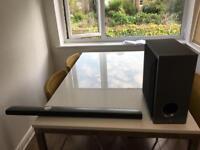 LG Bluetooth soundbar and woofer for sale