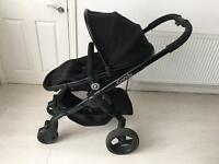 iCandy Peach 3 Jet Black Chassis Pushchair Stroller