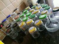 36 glass jars baby food upcycling wedding favours
