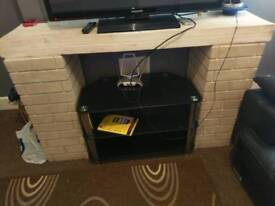 Fire surround and TV hi-fi stand