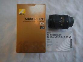 Nikon AF-S DX NIKKOR 16-85 mm f/3.5-5.6G ED VR Lens