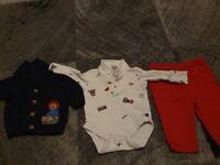 Baby boys paddington bear outfit