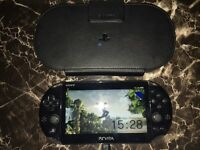 PS Vita With Case And 1 Game