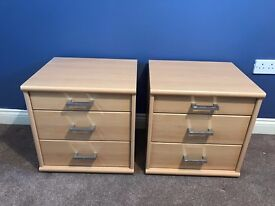 Two Nolte Bedside tables and chest of drawers