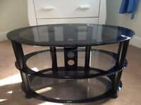 Black glass television stand Excellent condition