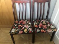 Set of 8 Sturdy wooden dining chairs
