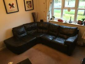 Leather corner sofa, collection only