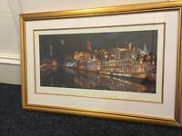 Glasgow photography print - gold frame