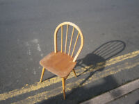 VINTAGE RETRO KITSCH ERCOL HOOP BACK KITCHEN CHAIR GOLDEN DAWM IN YEOVIL